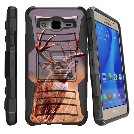 Samsung Galaxy Core Prime Case | Galaxy G360 Case [ Clip Armor ] Rugged Impact Defense Case with Kickstand + Holster - Majestic