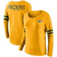 Green Bay Packers Nike Women's Tailgate Long Sleeve T-Shirt - Yellow