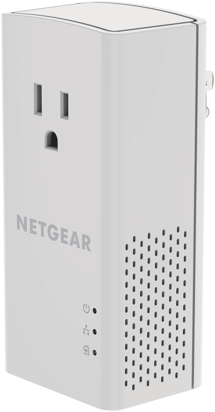 NETGEAR PowerLINE 1200 Mbps, 1 Gigabit Ethernet Port with Pass-Through, Extra Outlet, Does not provide WiFi (PLP1200) by NETGEAR