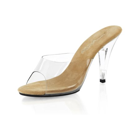 9 Inch High Heels (Classic and Classy Clear High Heel Pageant Shoes with 4 Inch)