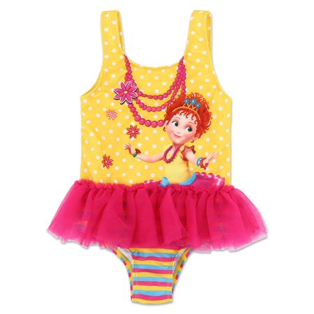 Disney Fancy Nancy Toddler Girls' One Piece TuTu Swimsuit - Pink/Yellow](Disney Swimwear Girls)