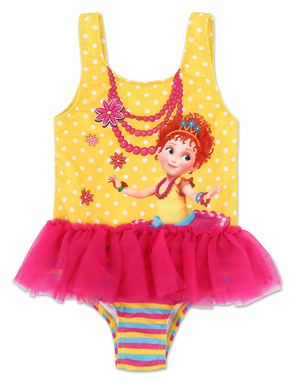 Disney Fancy Nancy Toddler Girls' One Piece TuTu Swimsuit - Pink/Yellow
