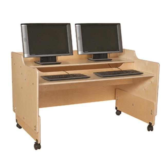 Contender C41048F 48 inch Mobile Computer Desk - Fully Assembled