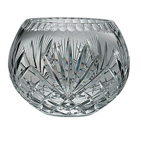 Crystal Rose Bowl - Majestic Hand Cut Crystal Bowl, 12-Inch, Rose