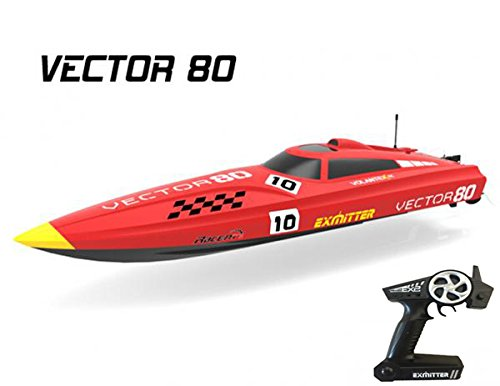 2.4Ghz Radio Control Control Vector 80 (cm) Super High Speed Race Boat ABS Unibody RC ARTR w ESC Brushless... by