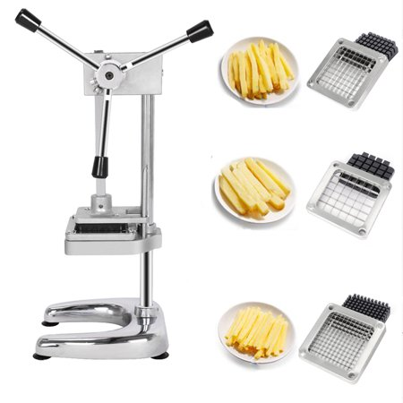 ROVSUN French Fry Vegetable Potato Cutter Slicer Commercial Quality w/3-Blade (3/8