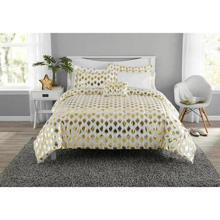 Mainstays Gold Dot Coordinating Comforter Set