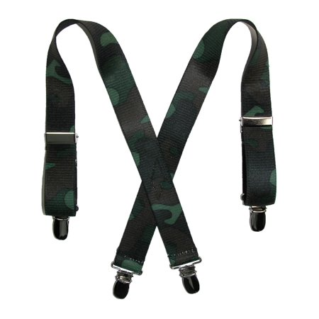Size one size Kid's Elastic 1 Inch Wide Clip-End Camouflage Pattern Suspenders ()