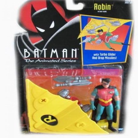 Kenner DC Comics Batman: The Animated Series Robin (with Turbo Glider) Action Figure 4.5 Inches - Animated Halloween Rocking Chair