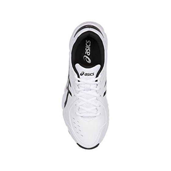 0cf76dc723 ASICS Men's Gel-195 TR Cross-Trainer-Shoes, White/Black/Silver, 13 Medium US