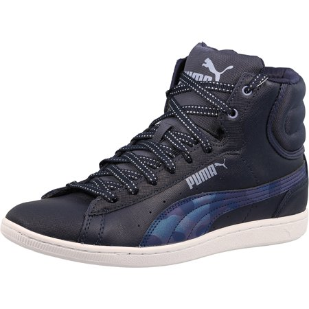f0157416d4b0 Puma Women s Vikky Mid Sfoam Scratch Peacoat Tempest High-Top ...