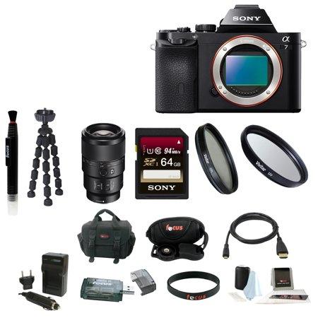 Sony ILCE7/B 24.3 MP a7 Full-Frame Interchangeable Digital Lens ...