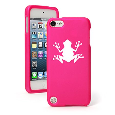 Apple iPod Touch 6th Generation Rubber Hard Case Cover Frog Hot Pink Hard Case Cover
