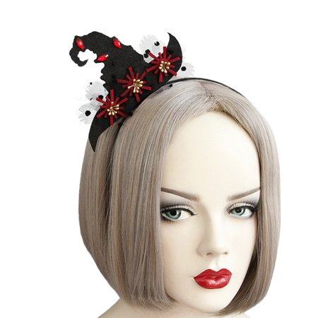 Halloween Headband, Justdolife Creative Witch Hat Decor Party Headband Hair Hoop Halloween Party Costume Accessories for Women Girls kids