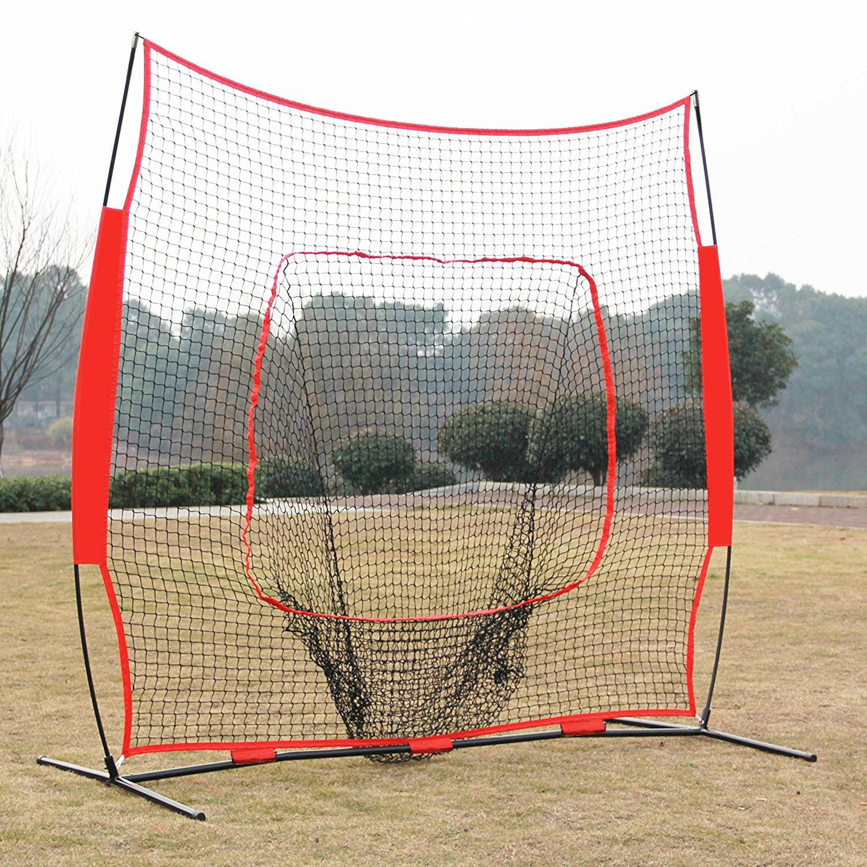 Zeny 7 x 7' Baseball Softball Net Practice Hitting Pitching Batting & Catching W  Bag by