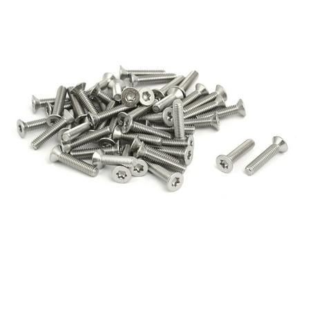 M2.5x12mm 304 Stainless Steel Flat Head Torx Drive Type Screw Silver Tone 50pcs - image 3 of 3