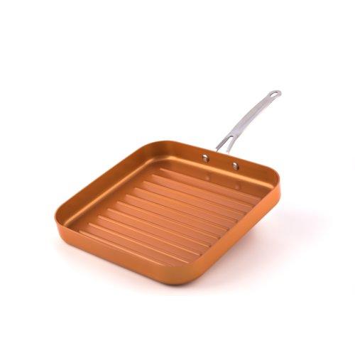 Original Copper Pan Non-Stick Deep Square Grill Pan, 11? by Original Copper Pan