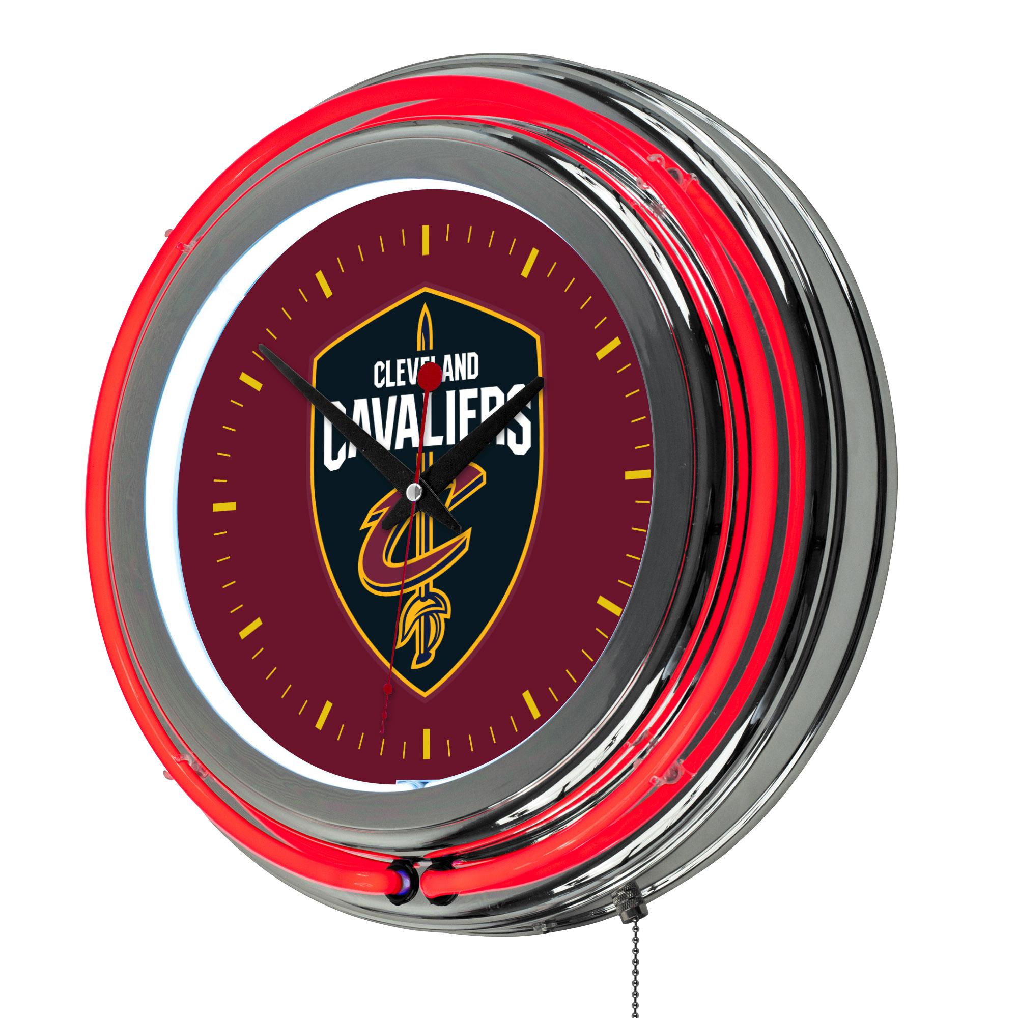 "Cleveland Cavaliers NBA 14"" Neon Wall Clock"
