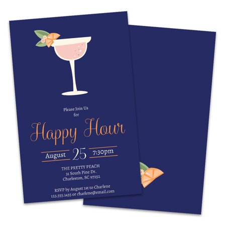 Personalized Happy Hour Party Invitations - Personalized Party Invitations