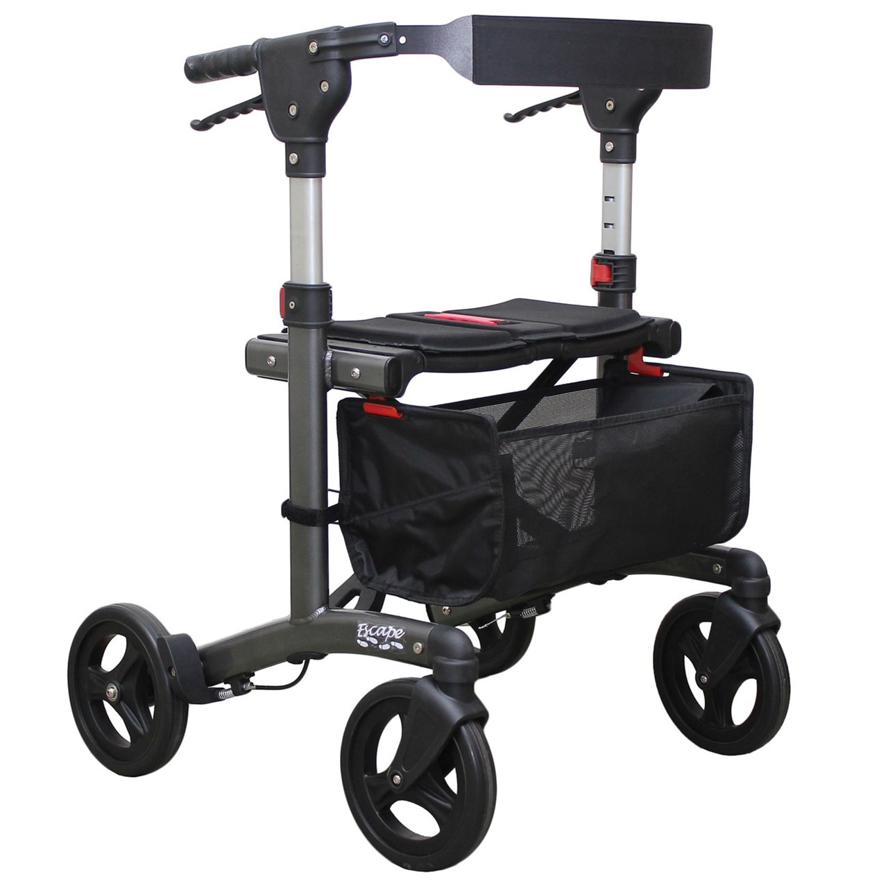 Escape Rollator - Super Low 19 in. Seat Height - Charcoal