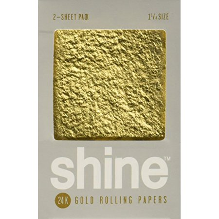 Shine 24K Gold Rolling Papers 2 Sheet Pack - Shine Paper