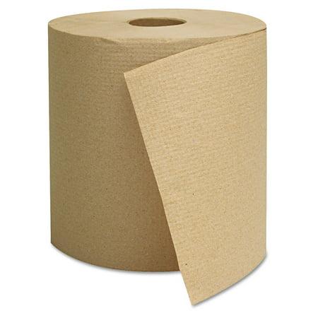 General Supply Hardwound Towels, Brown, 800ft, 6 Rolls/Case - GEN1825