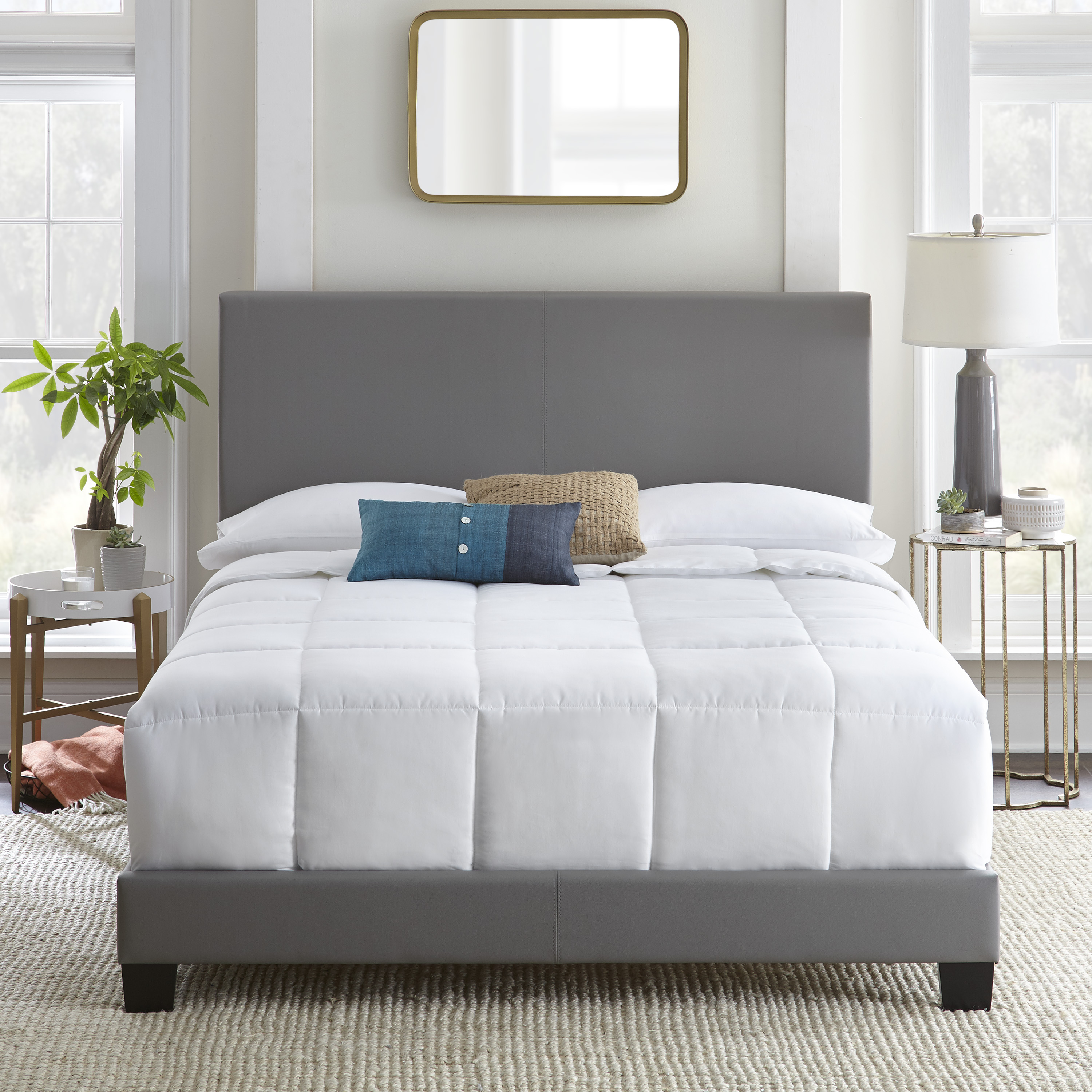 Premier Sutton Upholstered Faux Leather Bed, Multiple Sizes