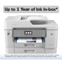 Brother MFC-J6945DW INKvestment Tank Color Inkjet All-in-One Wireless Printer with NFC, 11? x 17? Scan Glass and Up to 1-Year of Ink In-box
