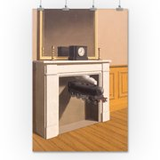 Time Transfixed - Masterpiece Classic - Artist: Rene Magritte c.1938 (36x54 Giclee Gallery Print, Wall Decor Travel Poster)