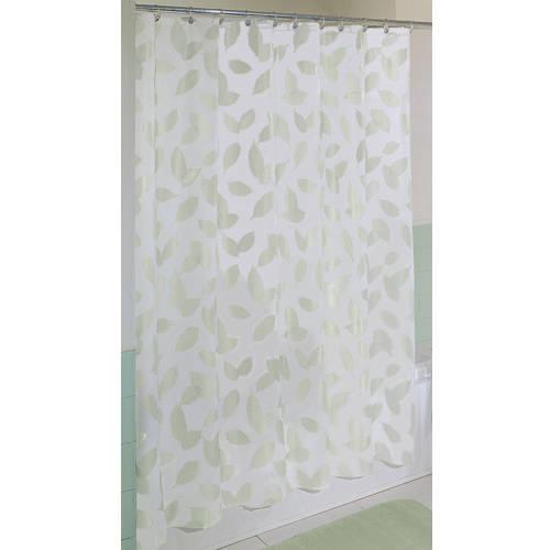 Modern Leaf Shower Curtain, Peridot