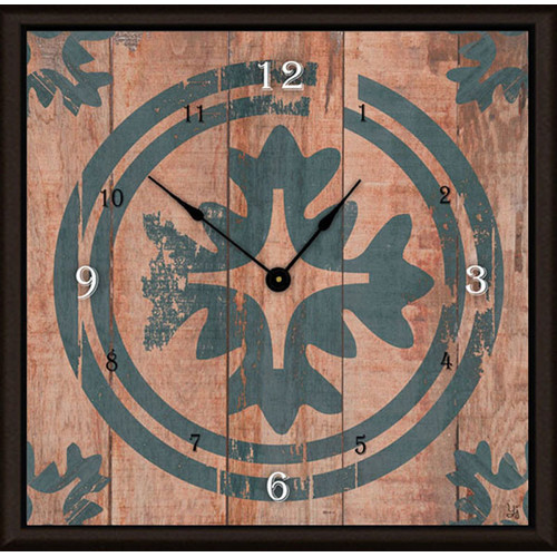 Green Leaf Art Floral Target 11'' Art Wall Clock