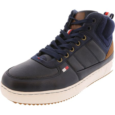 Tommy Hilfiger Men's Manzu Dark Blue High-Top Sneaker - 11.5M Prince Mens Tennis Shoes