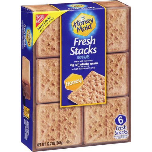 Nabisco Honey Maid Fresh Stacks Honey Grahams, 6 count, 12.2 oz
