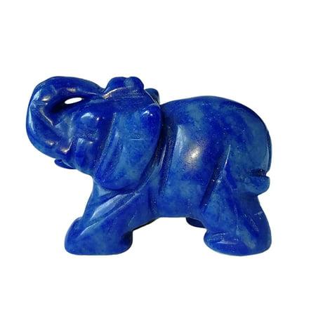 AIHOME 1.5-Inch Elephant Animal Pocket Stone Carved Elephant Elephant Statue Figurine Jade Stone Elephant Home Decoration Ornament - image 3 de 5