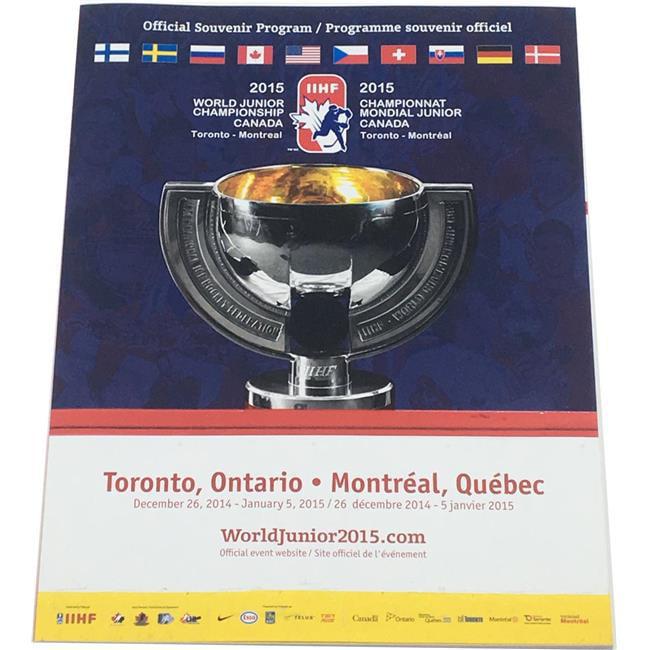 AJ Sports World 747565322238 2015 IIHF World Junior Hockey Championship Official Program McDavid & Domi by