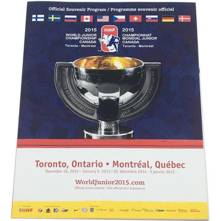 Aj Sports World 747565322238 2015 Iihf World Junior Hockey Championship Official Program   Mcdavid   Domi
