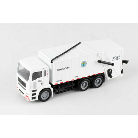- New York City Sanitation Dept Garbage Truck, White - Daron RT8957 - Diecast Model Toy Car