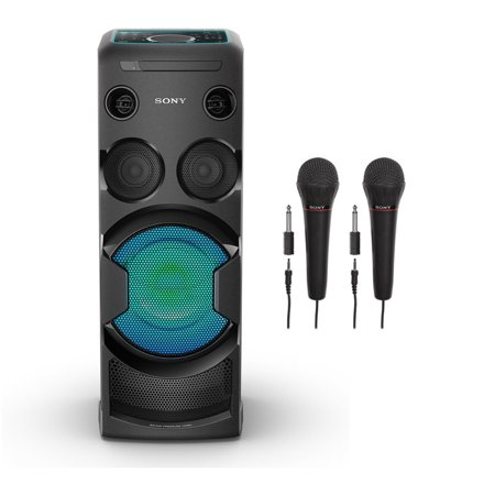 Sony (MHCV50_K1) MHC-V50 High-Power Home Audio System with Two Mic Bundle