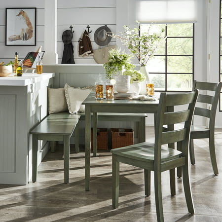 Weston Home Lexington 5-Piece Breakfast Nook Dining Set, Rectangular Table, Multiple Colors ()
