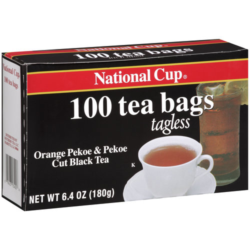 National Cup Orange Pekoe & Pekoe Cut Black Tea Tea Bags, 100ct