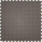 Perfection Floor Tile L ITDP450DG45 20.5 x 20.5 in. Flexible Interlocking Vinyl Floor Tile
