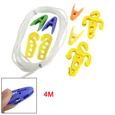 "157.5"" Length Laundry Plastic Clothesline Rope Set"