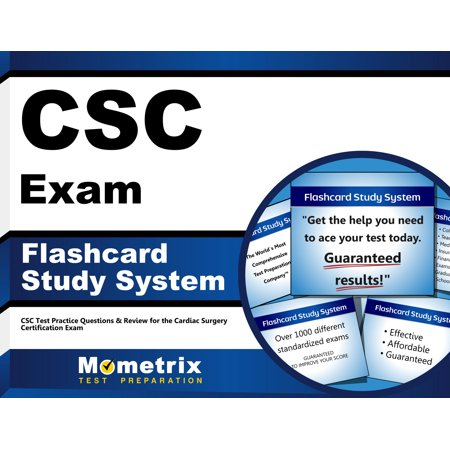 Csc Exam Flashcard Study System  Csc Test Practice Questions   Review For The Cardiac Surgery Certification Exam