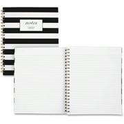 "Cambridge Fashion Business Notebook, 80 Sheets, 9"" x 11"", Black/White"