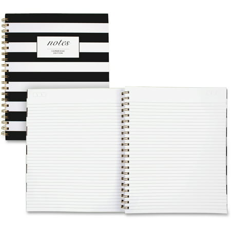 "Cambridge Fashion Business Notebook, 80 Sheets, 9"" x 11"", Black/White"