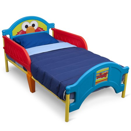 Delta Children Sesame Street Elmo Plastic Toddler Bed, Red ...