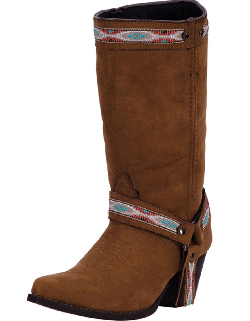 """Dingo Western Boots Womens 10"""" Shaft Stovepipe Micro Rust DI 745 by Dingo"""