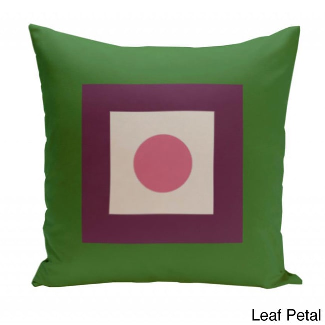 E by Design 16 x 16-inch Square/ Dot Print Geometric Decorative Throw Pillow