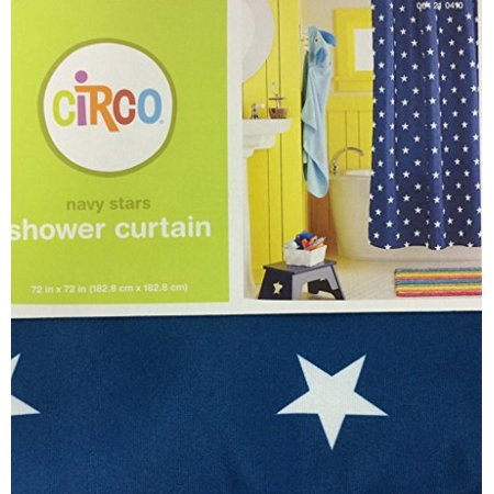 Navy Stars Shower Curtain By Measurement
