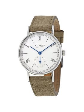 Nomos Ludwig 33 White Dial Beige Velour Leather Ladies Watch 244